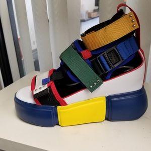 In Stock🖤Multi Buckled Slingback Platform Sneaker
